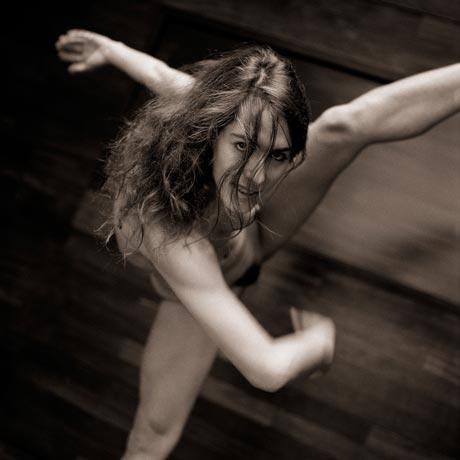 Naked dance and gymnastics